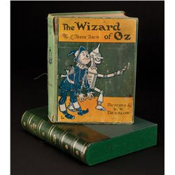 The Wizard of Oz vintage clothbound book signed to Jack Haley's son by virtually entire cast