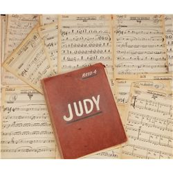 "Judy Garland's personal music arrangement manuscript archive, including ""Over the Rainbow"""