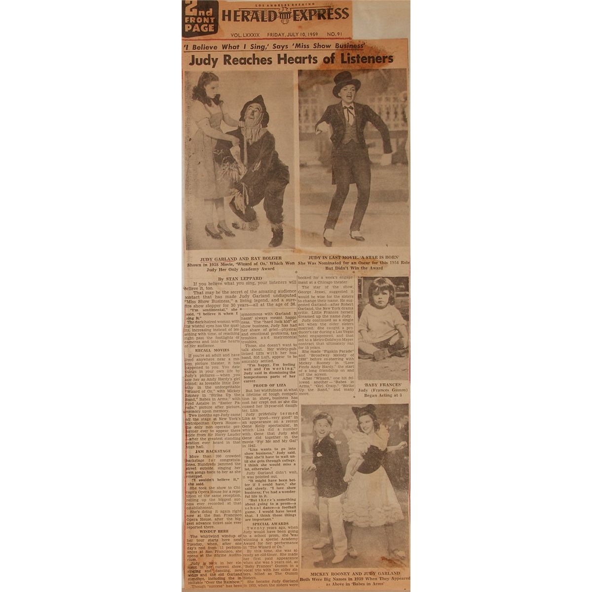 How to scrapbook newspaper clippings - Judy Garland S Personal Scrapbook Chronicling 1958 59 In Photographs And Newspaper Clippings