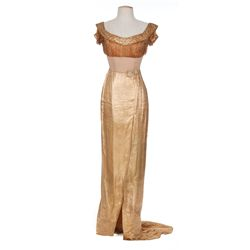 Dorothy Lamour gold lamé gown designed by Jean Louis from Lulu Belle