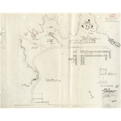 Blueprint plans for beach attack from Sands of Iwo Jima