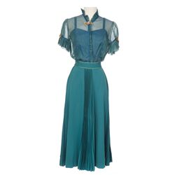 "Doris Day ""Marjorie Winfield"" 2-piece turquoise period skirt and blouse from On Moonlight Bay"