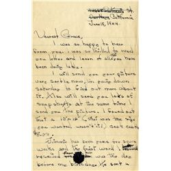 18-year-old Marilyn Monroe amazing autograph letter signed