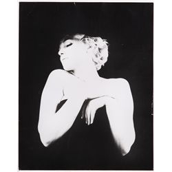 Collection of (4) 16 x 20 photos of Marilyn Monroe by Milton Greene from the black lingerie series