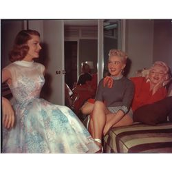 Pair of Marilyn Monroe 8 x 10 color transparencies from How to Marry a Millionaire