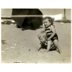 Marilyn Monroe (Norma Jeane) original family photograph age 2, with her later notation on verso