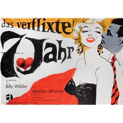 The Seven-Year Itch German R'65 A-0 oversize poster by Fischer-Nosbisch