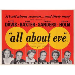 All About Eve British Quad poster