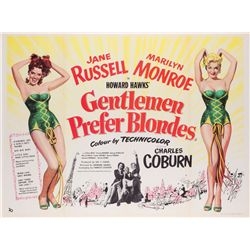 Gentlemen Prefer Blondes British Quad poster