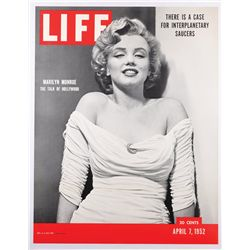 Life magazine newsstand poster of Marilyn Monroe's first Life cover, 1952