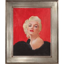 Marilyn Monroe portrait by Romeo Catozella after a Modern Screen magazine cover