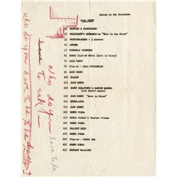 Marilyn Monroe invitation to JFK birthday celebration with call  sheet from her personal property
