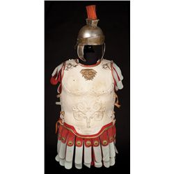 "Robert Taylor ""Marcus Vinicius"" tunic and sandals, plus unidentified Roman soldier armor"