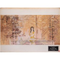Original concept production artwork of Cleopatra's Alexandria apartment from Cleopatra