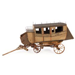 Miniature stagecoach from the original MGM sale