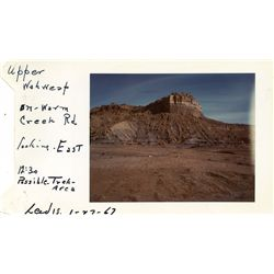 Original location scouting Polaroids of Lake Powell area for crash sequence of Planet of the Apes
