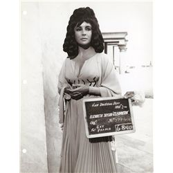 Collection of Elizabeth Taylor Cleopatra hair dressing department photographs from Cleopatra