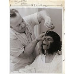 John Chambers personal photo album from Planet of the Apes behind-the-scenes make-up department