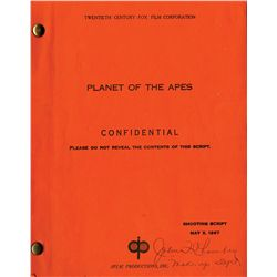 Planet of the Apes John Chambers signed make-up department script