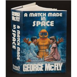 "Dust jacket for Crispin Glover ""George McFly's"" novel A Match Made in Space from Back to the Future"
