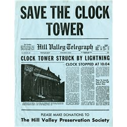 """Save the Clocktower"" circular from Back to the Future starring Eric Stoltz as ""Marty McFly"""