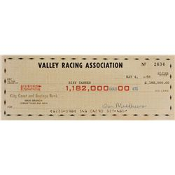 "Thomas F. Wilson ""Biff Tannen"" oversized check from Back to the Future II"