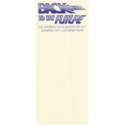 Back to the Future pre-production letterhead and production letterhead envelopes