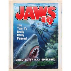 """Jaws 19"" original screen-used artwork by Tim Flattery from Back to the Future II"