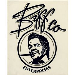 Biff Co. Enterprises sticker from Back to the Future II