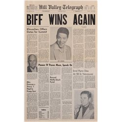 "Hill Valley Telegraph ""Biff Wins Again"" from Back to the Future II"