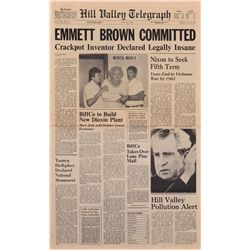 "Hill Valley Telegraph ""Emmett Brown Committed"" from Back to the Future II"