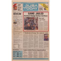 "Prop future USA Today newspaper ""Gang Jailed"" headline from Back to the Future II"