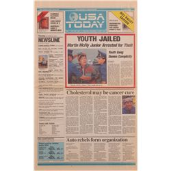 "USA Today ""Youth Jailed"" from Back to the Future II"