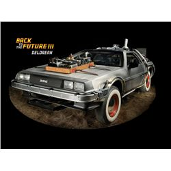 The most recognized film car of all time! The DeLorean Time Machine from Back to the Future III