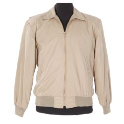 Rare tan crew jacket from Back to the Future III