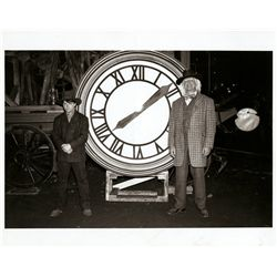 Pair of clock tower contact sheets and production photos from Back to the Future III