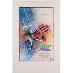 Original concept poster artwork by Drew Struzan of Marty's watch (time 11:38) for Back to the Future