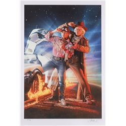 Drew Struzan signed limited edition Back to the Future III print