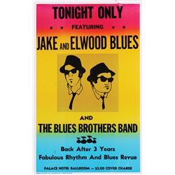 "Original ""Blues Brothers Palace Hotel Ballroom"" concert poster from The Blues Brothers"