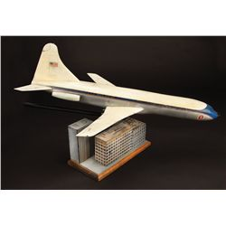 Air Force One filming miniature and buildings display from Escape from New York
