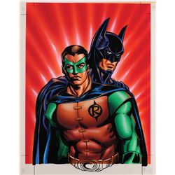 Batman & Robin painting for poster