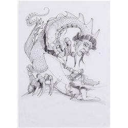Portfolio of 60+ special effects storyboards by Richard Lasley for Gremlins II: The New Batch