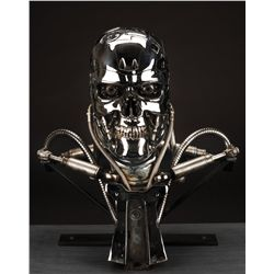 Hero solid bronze screen-used T-800 Endo skull from Terminator 2: Judgment Day