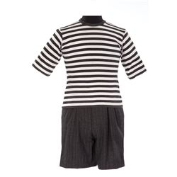 "Jimmy Workman ""Pugsley"" striped shirt and shorts with suspenders from Addams Family Values"