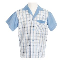 "Michael Connor Humphries ""Little Forrest"" boy's short-sleeve button-up shirt from Forrest Gump"