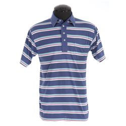 "Tom Hanks ""Forrest"" striped polo shirt from Forrest Gump"