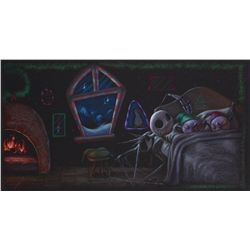 Concept artwork of the Elves in bed from The Nightmare Before Christmas