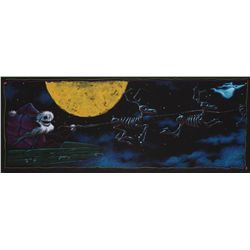 Concept artwork of Jack in sleigh with reindeer from The Nightmare Before Christmas