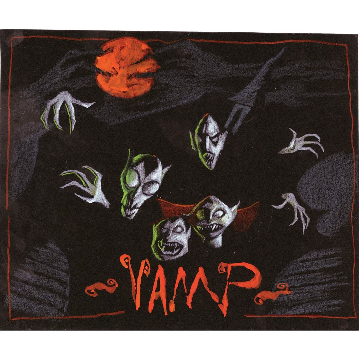 Original concept artwork for Vampires from The Nightmare Before ...