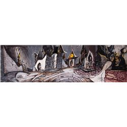 Original Deane Taylor Halloween Town concept artwork from The Nightmare Before Christmas
